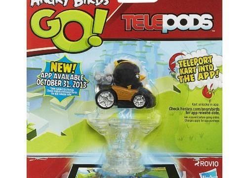 Angry Birds Go! Telepods oiseau noir avec casque avec son bolide Hasbro jouet