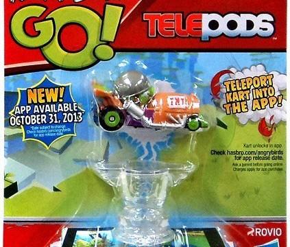 Angry Birds GO! Telepods cochon avec casque avec son bolide Hasbro jouet