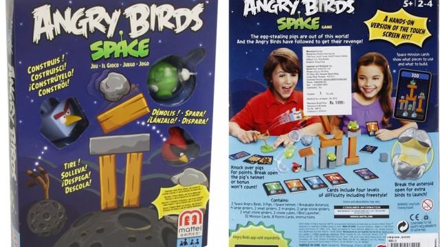 Mattel – X6913 – Jeu de cartes- Angry Birds Space (dans l'espace)