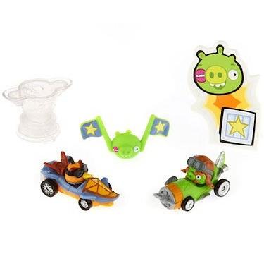 2 figurines et ses bolides Angry Birds Go! – Telepods – Modèle Aléatoire