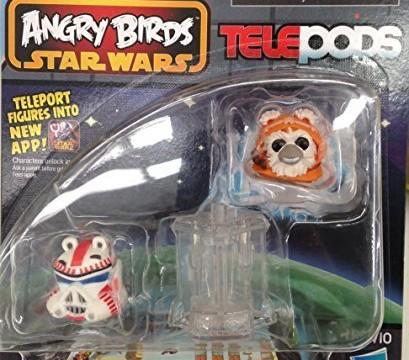 WICKET W. WARRICK l'oiseau EWOK et Shock Trooper Cochon – Angry Birds Star Wars Telepods (Series 2)
