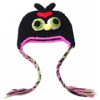 Bonnet ( 1 à 3 ans) Bomb (l'oiseau noir)- Angry Birds