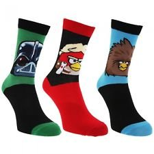 3 paires chaussettes (taille 39-46) – Adulte – Angry Birds Star Wars