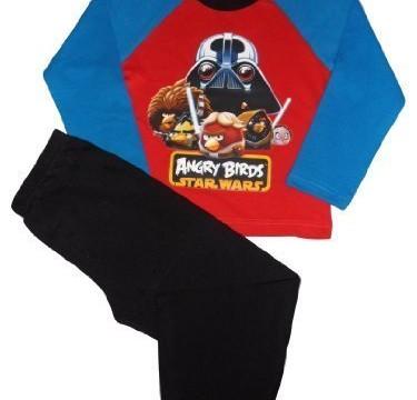 Pyjama (5 ans) Angry Birds – Star Wars -Garçon Bleue, Rouge, noir