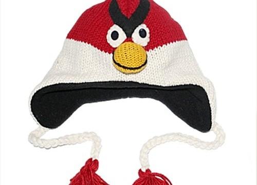 Bonnet tricoté – rouge et blanc Angry Birds (Népal)