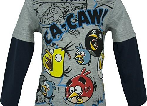 T-shirt à manches longues (4 à 10 ans) – Angry Birds