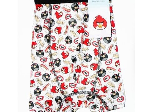 Boxer  (adulte : small, medium, large, xl) -Red et Bomb- Angry birds