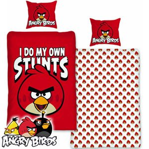 COUETTE & TAIE D'OREILLER SET – REVERSIBLE – ANGRY BIRDS