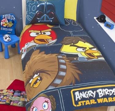 Parure de lit housse couette réversible Angry Birds -Star Wars -100% coton (vendu par Character World)