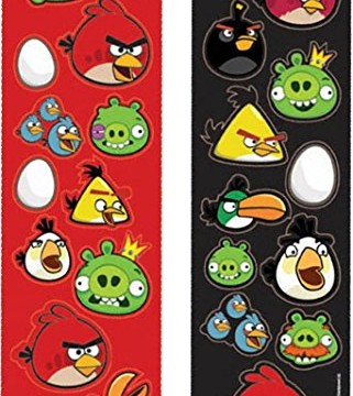 Autocollants (paquet de 8) Angry Birds