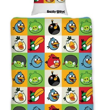 Housse de couette et taie d'oreiller – Angry Birds