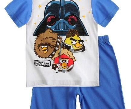 Pyjama (6 au 12 ans) Angry Birds Star Wars Pantalon court et manches courtes – été