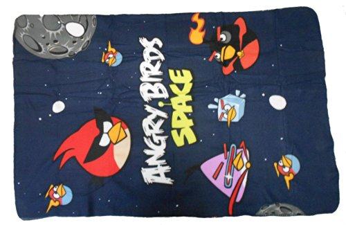 Couverture Polaire  – Plaid – 100 x 150 cm – «Space» (Espace)-Angry Birds  –