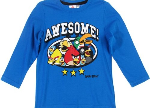 T-Shirt (8 ans) à manches longues / «Awesome» – Garçons – Angry Birds