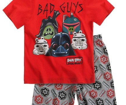 Pyjama court (6 à 12 ans) Angry Birds Star Wars rouge