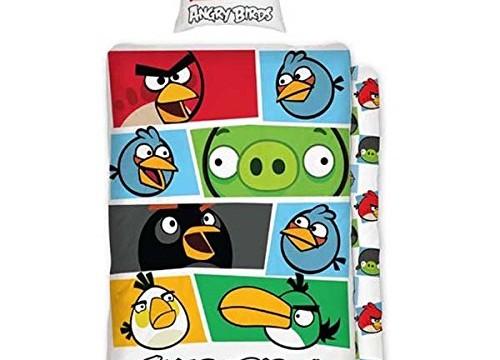 Parure de lit housse de couette -réversible – taie d'oreiller – coton (vendu par  Angry Birds)