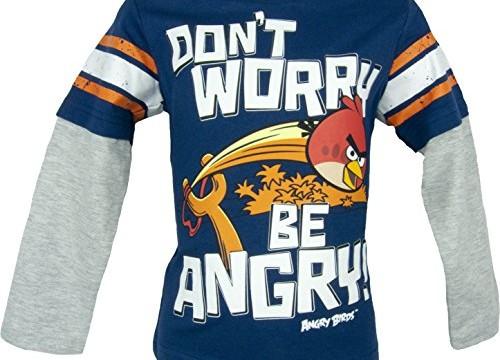 T-shirt à manches longues (4 à 8 ans) avec Red (l'oiseau rouge) / Angry Birds