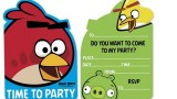 6 cartes d'invitation une fête (paquet de 6) -Angry Birds