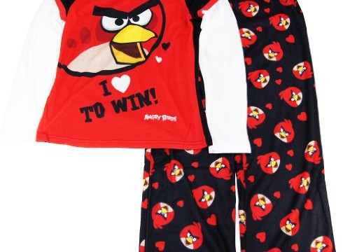 Pyjama (10 ans) Angry Birds – Manches longues – Fille -Manches longues