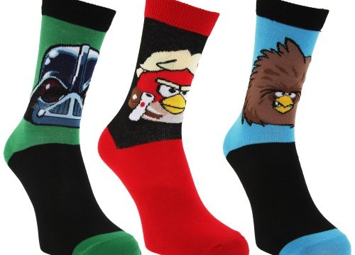3 paires Chaussettes (taille 39-46) – adulte- Angry Birds Star Wars
