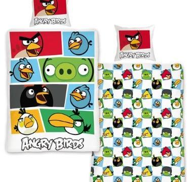 Parure de lit housse de couette -réversible – taie d'oreiller – coton (vendu par Beltex) Angry Birds