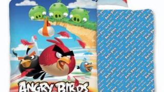 Housse couette et housse d'oreiller pour lit double – réversible en coton 160 x 200 et 70 x 80 cm – Angry Birds Parure