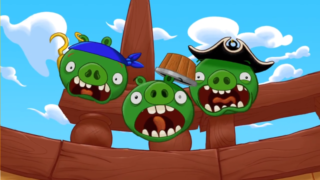 Angry Birds Go! Les cochons pirates attaquent (Pirate Pig Attack)