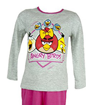 Pyjama (4 à 10 ans)  manches longues Angry Birds fille