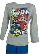 Pyjama (4 à 10 ans) Angry Birds -manches longues Gris
