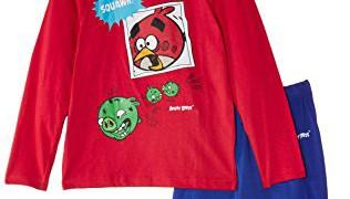 Pyjama (2 à 8 ans) Angry Birds -Garçon – Bleu (Noir Bleu/Rouge)
