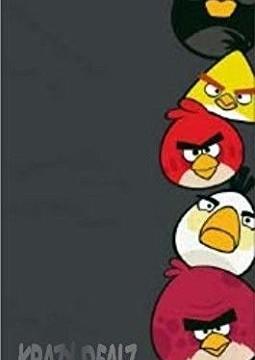 Serviette de bain/plage (140 x 70 cm) coton Angry Birds gris Anthracite