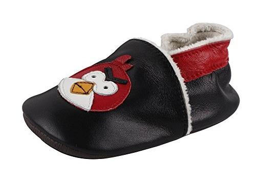 Chaussures souples (6 mois à 2 ans) chaussons  chaud en cuir doux Angry birds