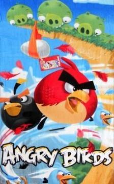 serviette de plage (76cm  x de 150cm ) Angry Birds