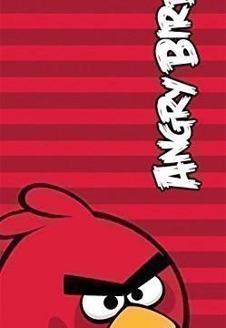 Drap De Bain Plage (70 x 140 cm) Rouge Rayures Coton  – Angry Birds
