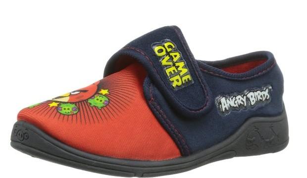 Chaussons (27 à 34) à Velcro -garçon Angry Birds