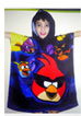 Serviette Poncho  à Capuche – cape de bain – Angry Birds Space