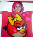 Serviette Poncho Sweat à Capuche Rosa Angry Birds