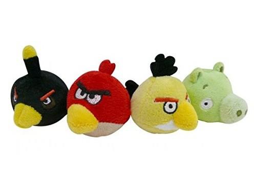 Enbouts Crayon en Peluche – Angry Birds – Lot de 4 Pièces