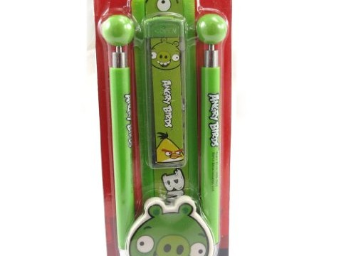 Lot papeterie cochon roi vert Angry Birds