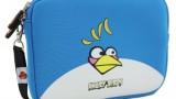 Sacoche pour tablette (iPad ou Android) avec lanière en bleu ou noir -Angry Birds (néoprène, imperméable, double fermeture éclair YKK, poche extérieure, doublure intérieure peluche douce)