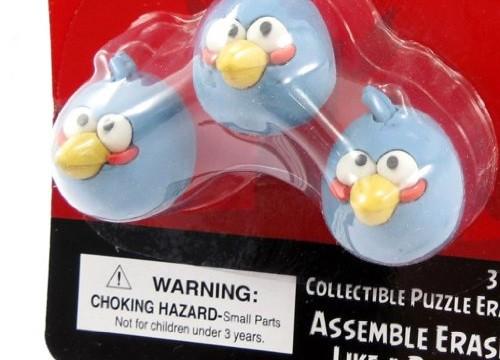 Oiseaux bleus : 3 gommes Triplets d'Angry Birds