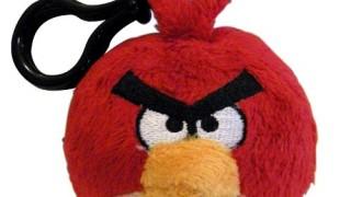Peluche avec clip: Red, l'oiseau rouge d'Angry birds