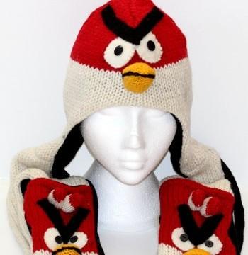 Bonnet + Echarpe + Gants -Népalais- Angry Birds